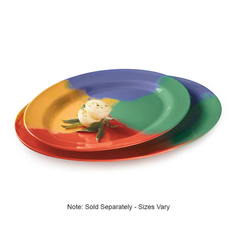 "GET OP-618-CE 18""Oval Catering Platter, Melamine, Celebration"