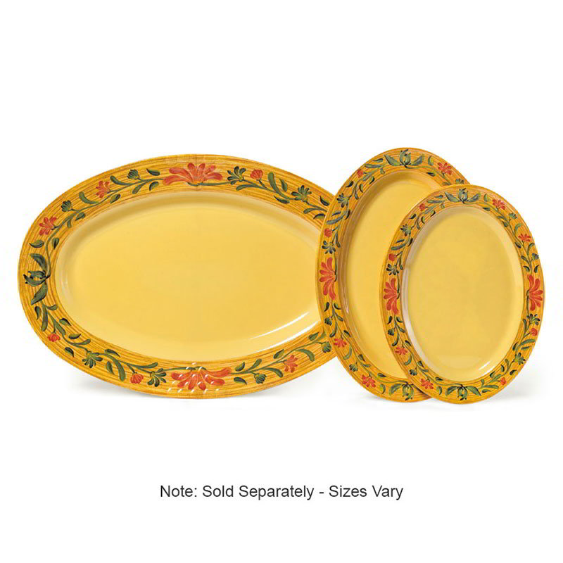 "Get OP-618-VN 18""Oval Catering Platter, Melamine, Venetian"