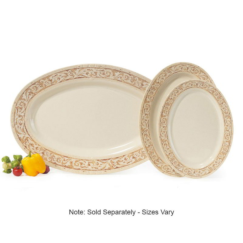 "GET OP-621-OL 21""Oval Catering Platter, Melamine, Olympia"
