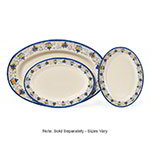 "GET OP-621-SL 21""Oval Catering Platter, Melamine, Santa Lucia"
