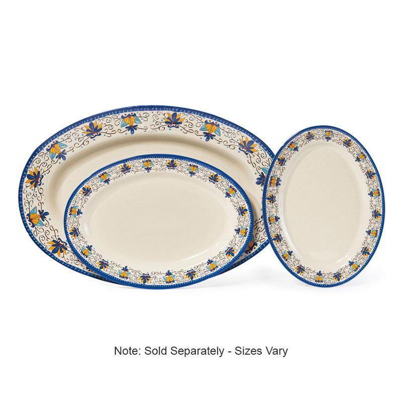 """GET OP-621-SL Oval Serving Platter, 21"""" x 15"""", Melamine, White"""