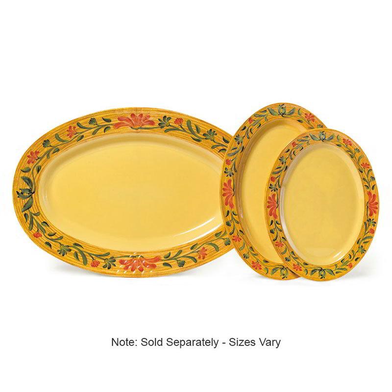 "GET OP-621-VN 21""Oval Catering Platter, Melamine, Venetian"
