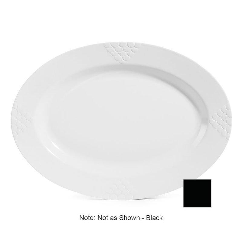 """GET OP-624-BK 24""""Oval Platter, Melamine, Black"""