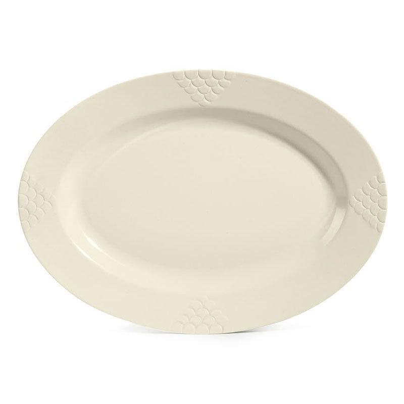 """GET OP-624-IV 23.25"""" Oval Sonoma Platter, Melamine, Ivory"""