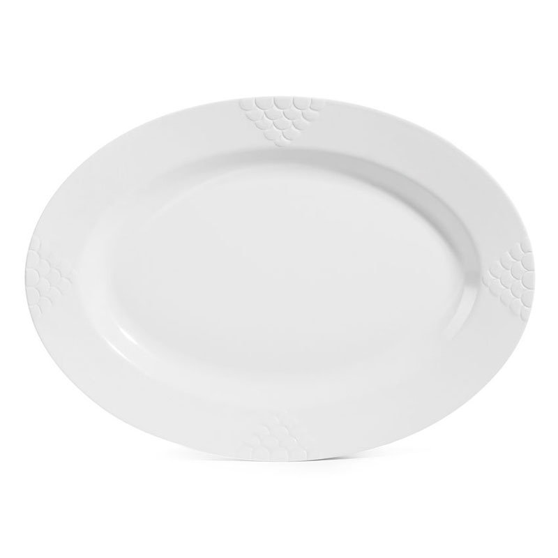 "GET OP-624-W 24""Oval Platter, Melamine, White"