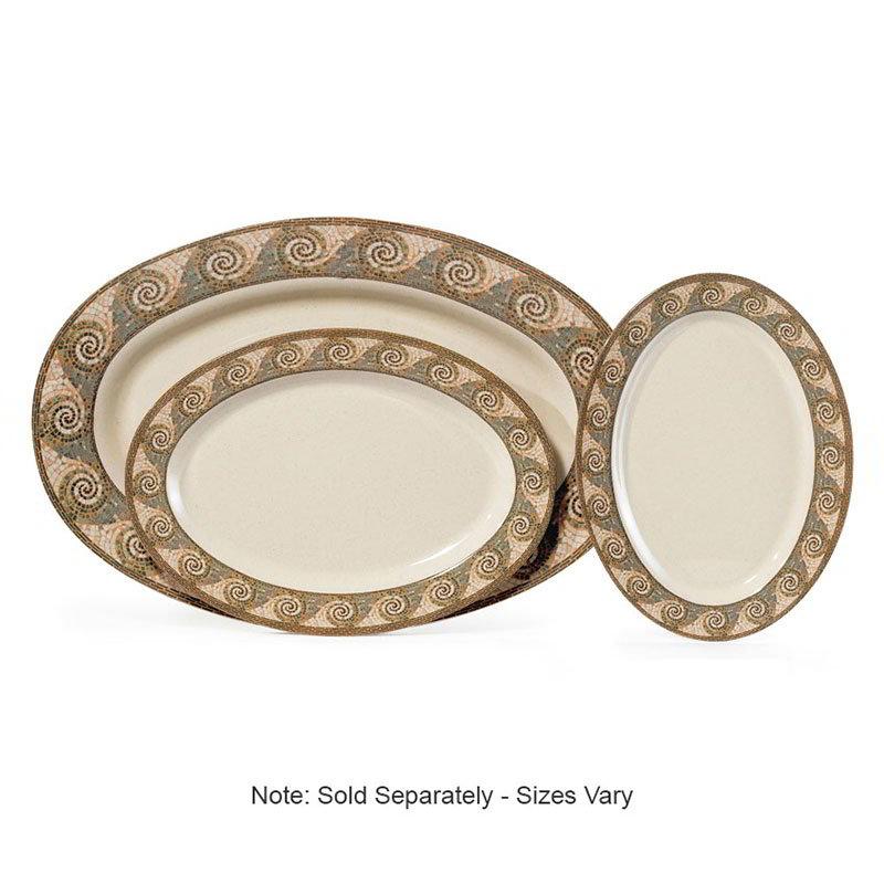 """Get OP-630-MO Platter, 30"""" Oval, Melamine, Mosaic"""