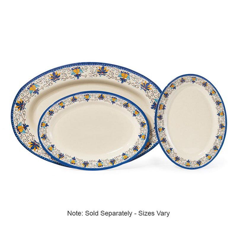 """GET OP-630-SL 30""""Oval Platter, Melamine, Santa Lucia"""
