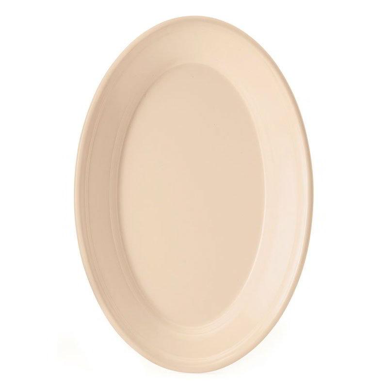 "GET OP-912-T Oval Serving Platter, 12"" x 8.5"", Melamine, Tan"