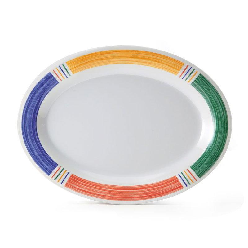 "GET OP-950-BA 9-1/2""x 7-1/4""Oval Platter, Melamine, Barcelona"