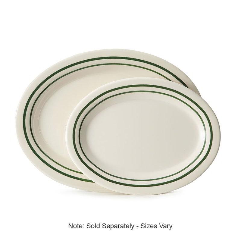 """GET OP-950-EM 9-1/2""""x 7-1/4"""" Oval Platter, Melamine, Centennial Emerald"""