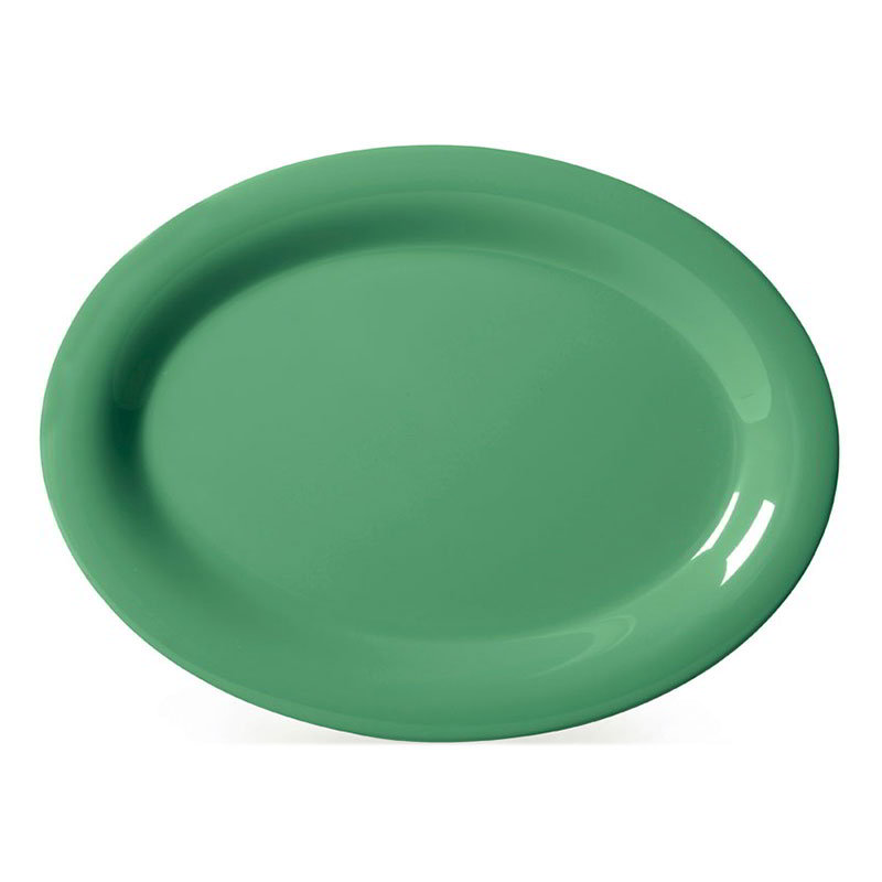 "GET OP-950-FG 9-1/2""x 7-1/4"" Oval Platter, Melamine, Rainforest Green"