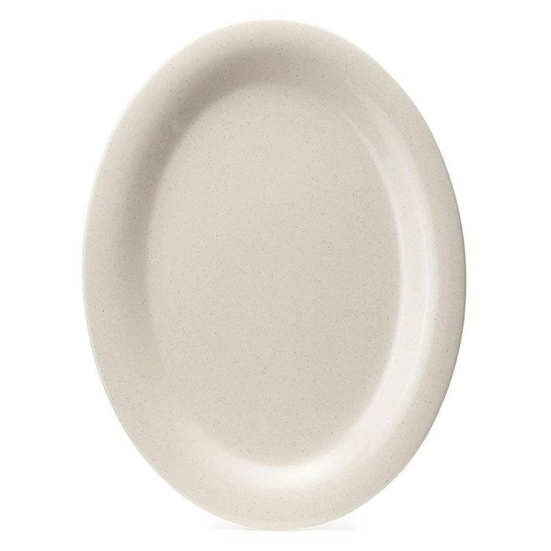 "GET OP-950-IR 9-1/2""x 7-1/4"" Oval Platter, Melamine, Ironstone Speckled"