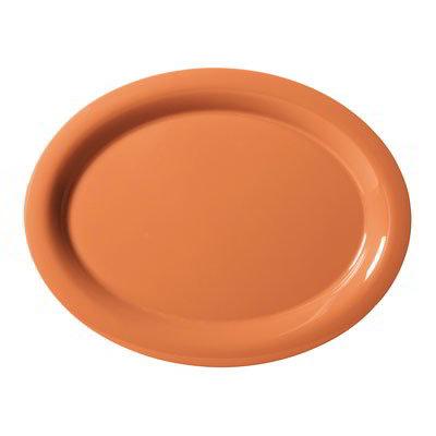 """GET OP-950-PK Oval Melamine Platter, 9-3/4 x 7.25"""", Pumpkin"""