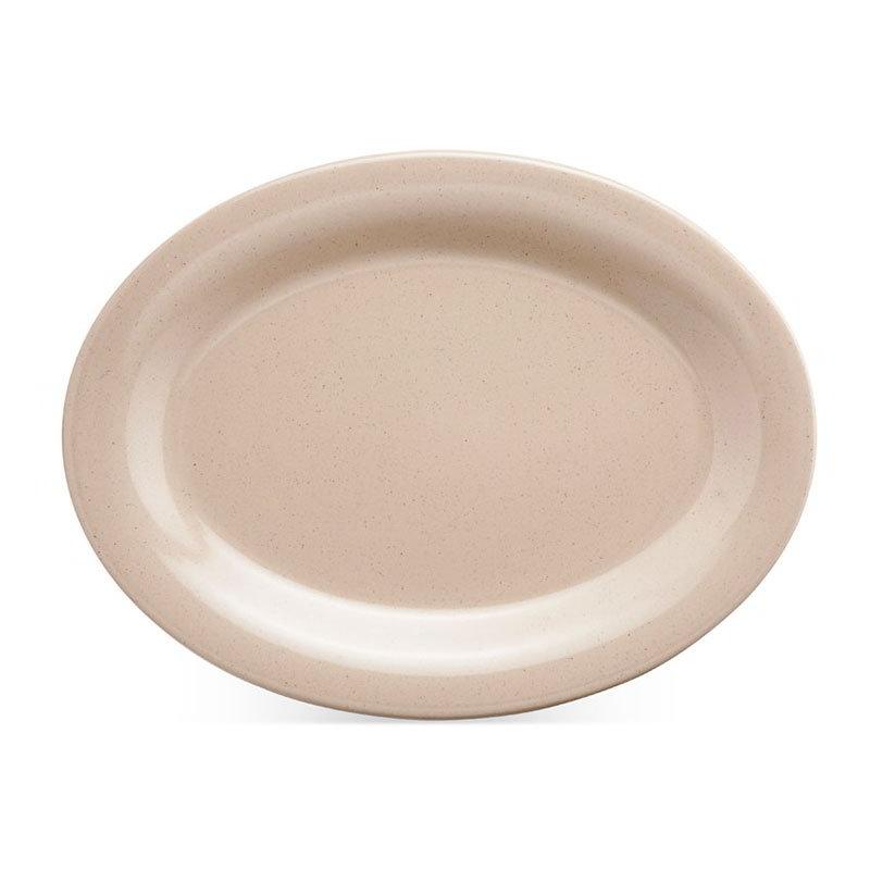 """GET OP-950-S 9-1/2""""x 7-1/4""""Oval Platter, Melamine, Sandstone"""