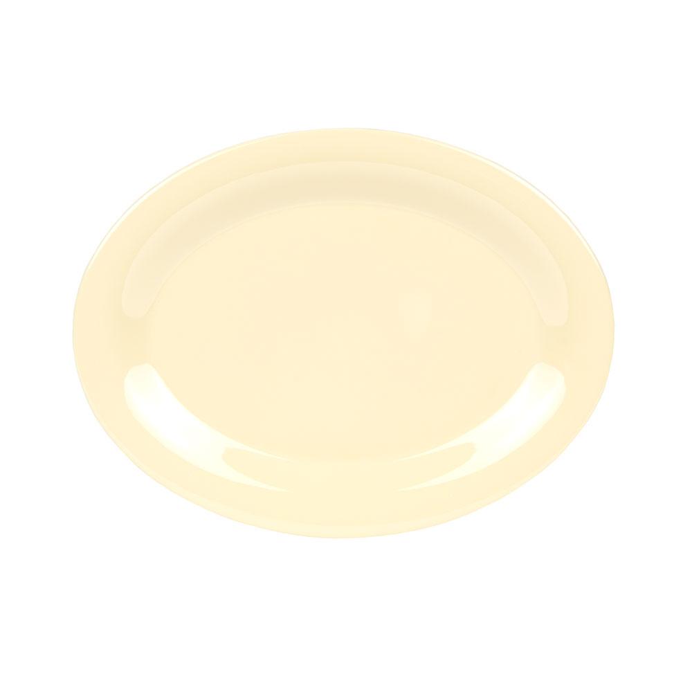 "GET OP-950-SQ Oval Serving Platter, 9.75"" x 7.25"", Melamine, Yellow"