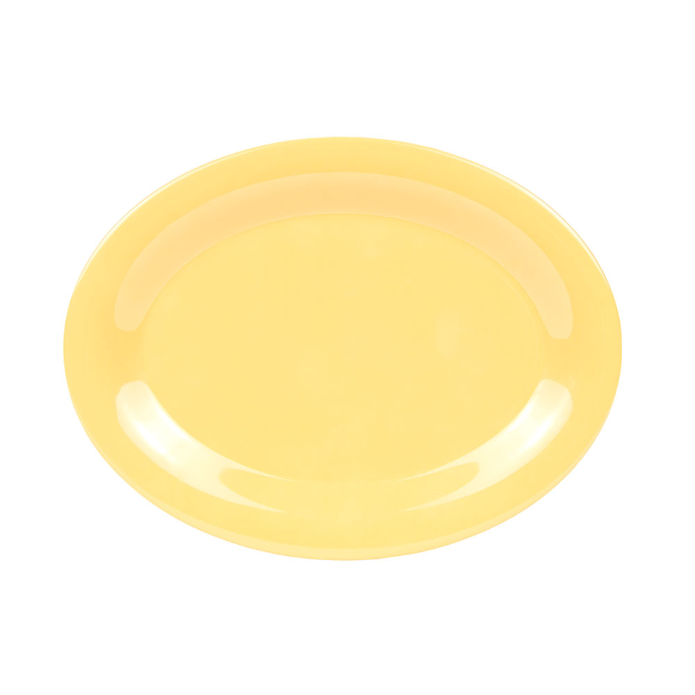 "GET OP-950-TY 9-1/2""x 7-1/4""Oval Platter, Melamine, Tropical Yellow"