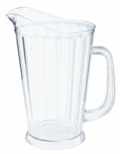 G.E.T P-1064-A 60 oz Beer Pitcher SAN Plastic Amber Restaurant Supply