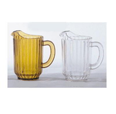 Get P-2064-A 60 oz Water Pitcher, SAN Plastic, Amber