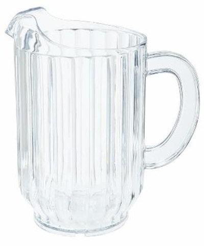 GET Enterprises P-2064-CL 60 oz Water Pitcher SAN Plastic Clear Restaurant Supply