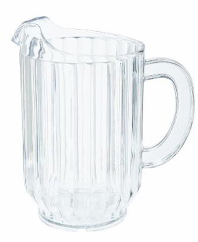 GET P-3032-CL 32 oz Water Pitcher, SAN Plastic, Clear