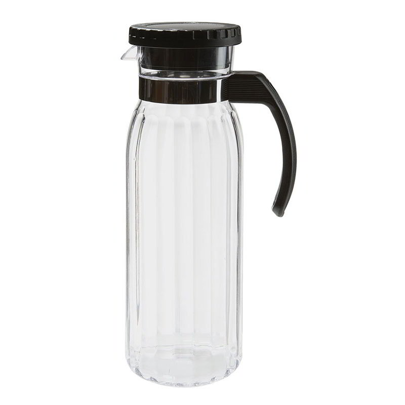 GET P-4050-PC-CL 50-oz Beverage Pitcher w/ Black Handle, Clear Polycarbonate