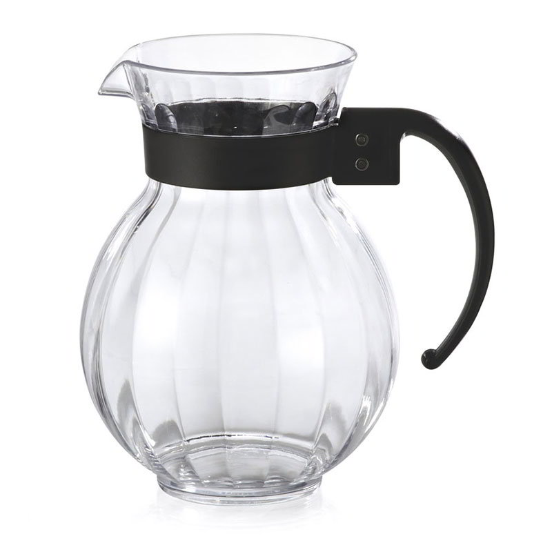 GET P-4072-PC-CL 72-oz Tahiti Pitcher w/ Black Handle, Clear Polycarbonate