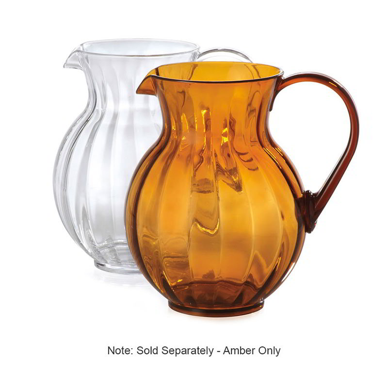 "GET P-4090-PC-A 90-oz Tahiti Pitcher, 8.75"" Diameter, Amber Polycarbonate"
