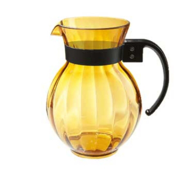GET Enterprises P-4091-A Mardi Gras Pitcher 90 oz Polycarbonate Clear Amber Handle Restaurant Supply