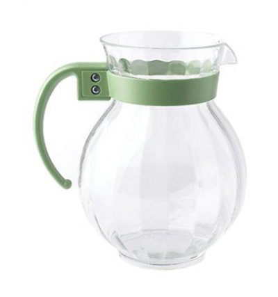 GET P-4091-TRITAN-FG 90-oz Tahiti Pitcher w/ Forest Green Handle, Clear TRITAN