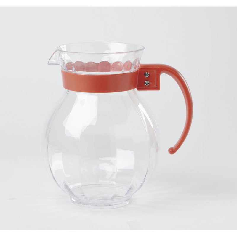 GET P-4091-PC-RO 90-oz Tahiti Pitcher w/ Rio Orange Handle, Clear Polycarbonate