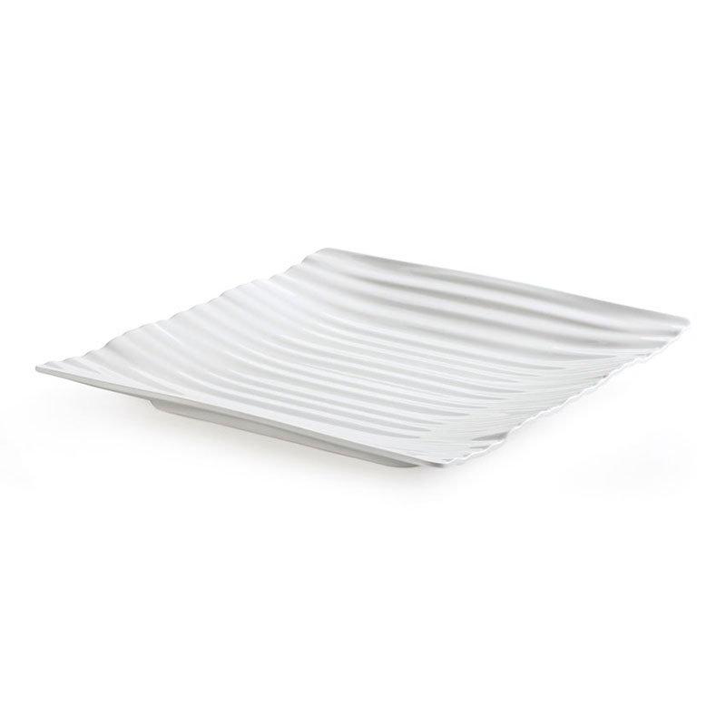 "GET PL-7-W 7"" Square Polynesian Plate w/ Break Resistance, Melamine, White"