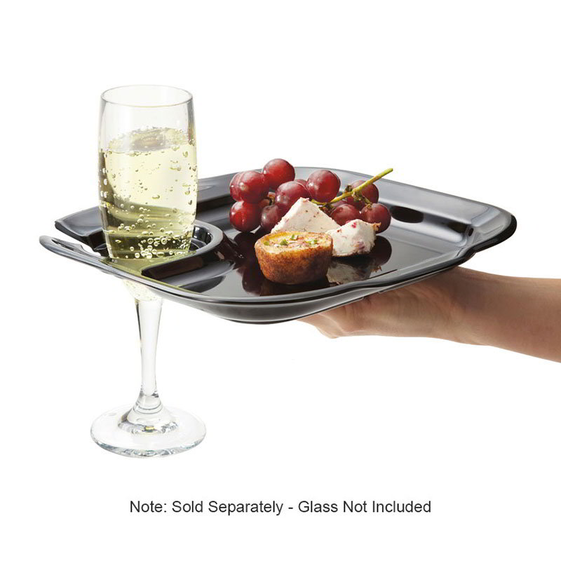 "GET PP-975-BK 9-3/4""x 9"" Party Plate, Melamine, Black"