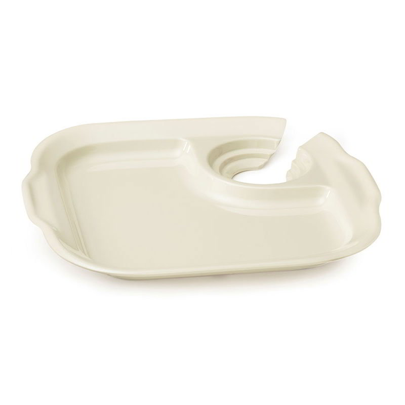 """GET PP-975-IV 9-3/4""""x 9"""" Party Plate, Melamine, Ivory"""