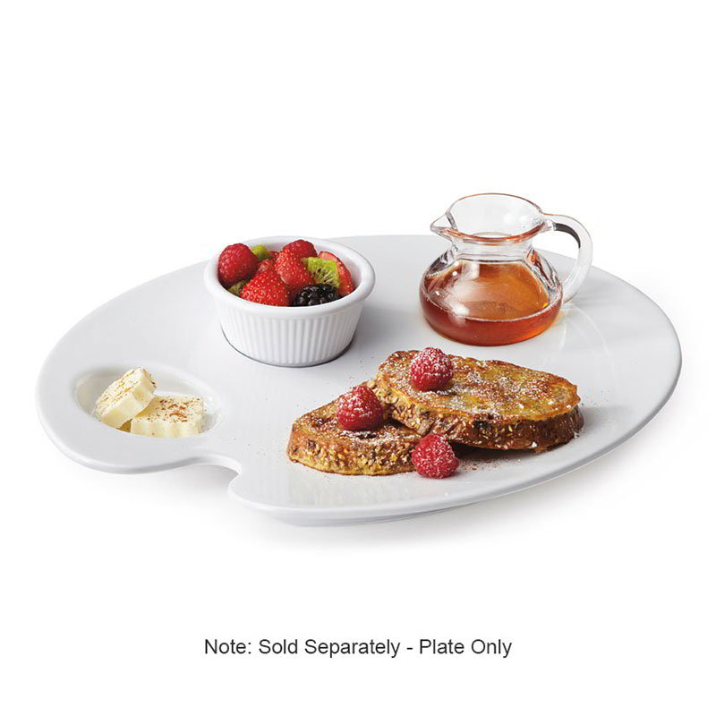 "GET PP-977-W 12""Painter Plate, Melamine, White"