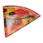 """GET PZ-85-PZ Mama Mia Triangle Pizza Plate, 8.5 x 9"""", Melamine"""