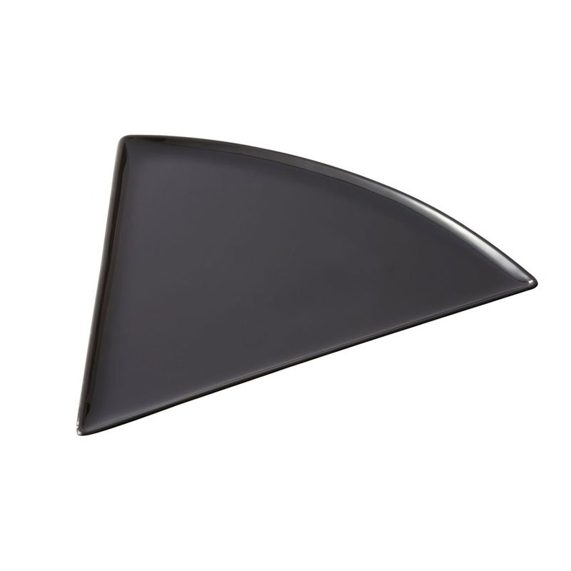 "GET PZ-85-BK Pizza Plastic Plate, 8-1/2 x 9"" Triangle, Mel, Break-Resistant, Dasher Safe, Black"