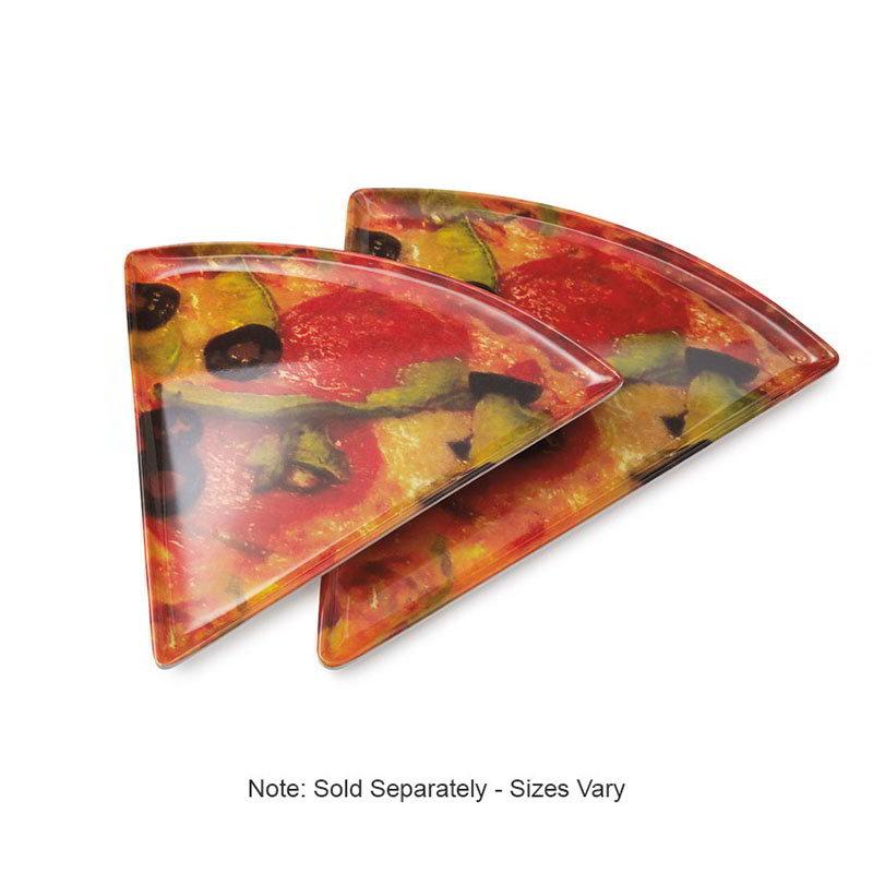 """GET PZ-86-PZ 9"""" Triangular Pizza Plate, Melamine, Multi-Colored"""