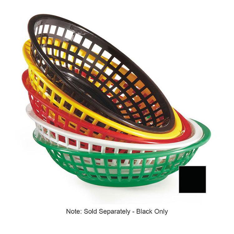 """GET RB-820-BK 8""""Round Bread & Bun Basket, Plastic, Black"""