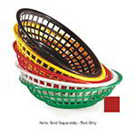 "GET RB-820-R 8""Round Bread & Bun Basket, Plastic, Red"