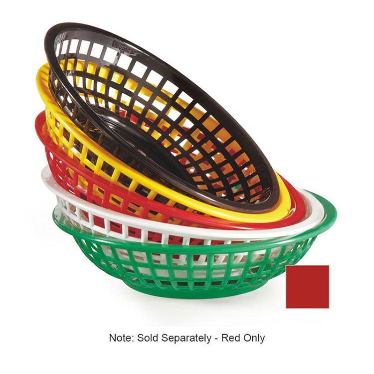"""GET RB-820-R 8""""Round Bread & Bun Basket, Plastic, Red"""