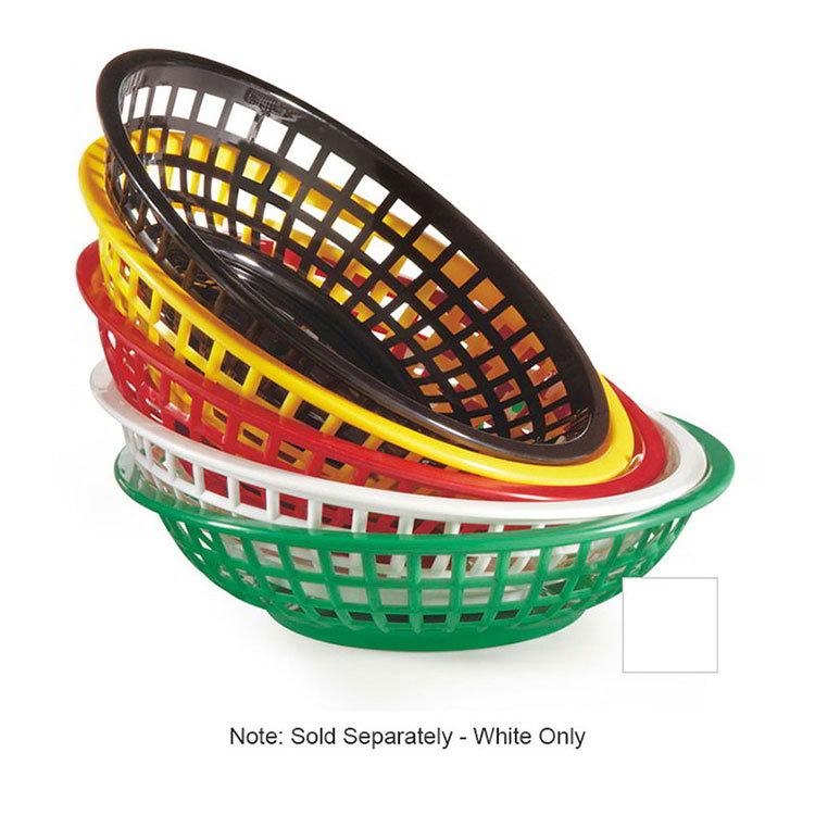 """GET RB-820-W 8""""Round Bread & Bun Basket, Plastic, White"""