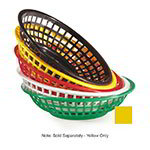 "GET RB-820-Y 8""Round Bread & Bun Basket, Plastic, Yellow"