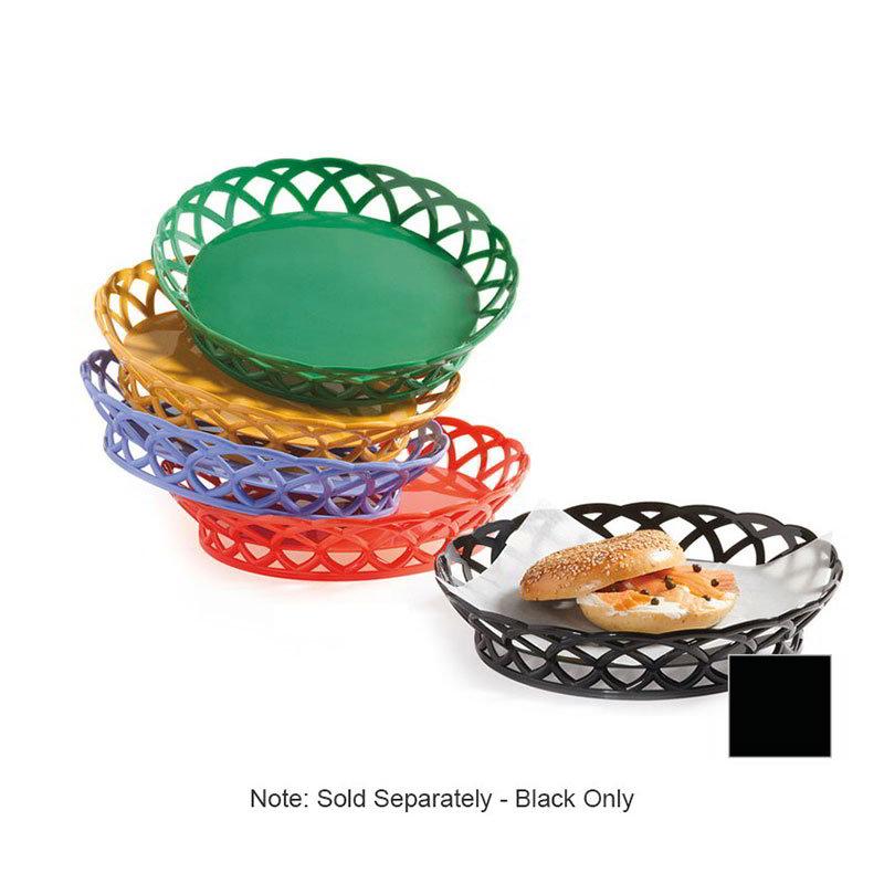 """GET RB-860-BK 10""""Round Bread & Bun Basket, Plastic, Black"""