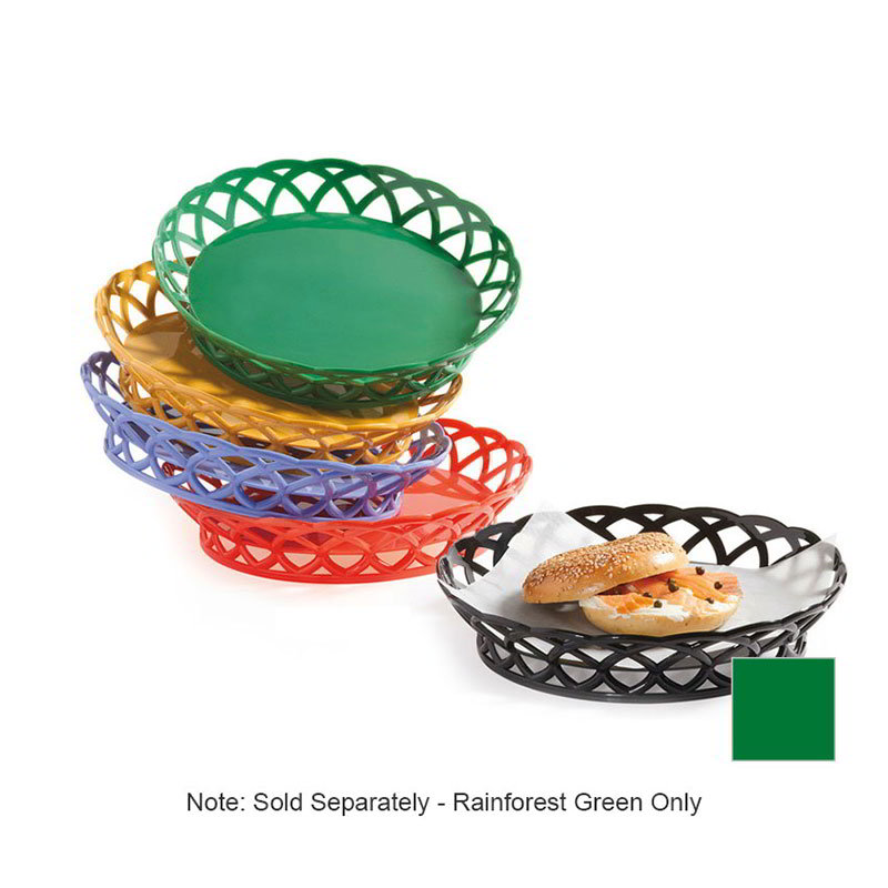 "GET RB-860-FG 10""Round Bread & Bun Basket, Plastic, Rainforest Green"