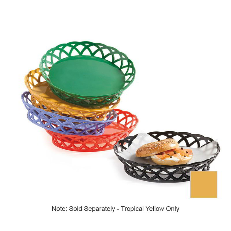 """GET RB-860-TY 10.5"""" Round Fast Food Basket, Polypropylene, Yellow"""