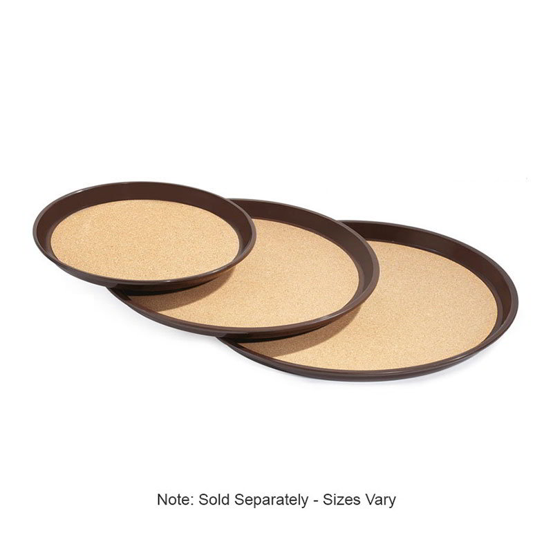 "GET RCT-14-BR 14""Round Tray, Cork Lined, Melamine, Brown"