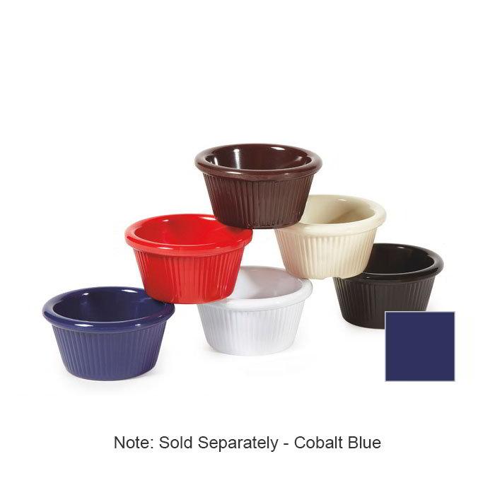 GET RM-387-CB 2-oz Ramekin, Fluted, Melamine, Cobalt Blue