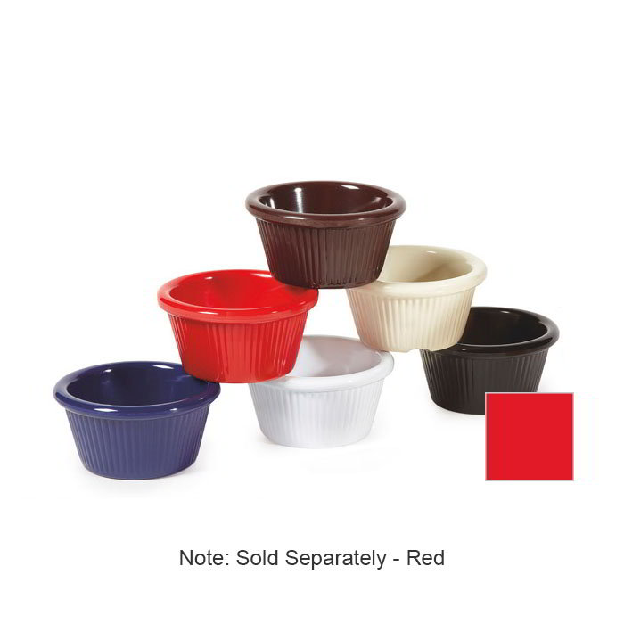 GET RM-387-R 2-oz Fluted Cone Shaped Ramekin, Red Melamine