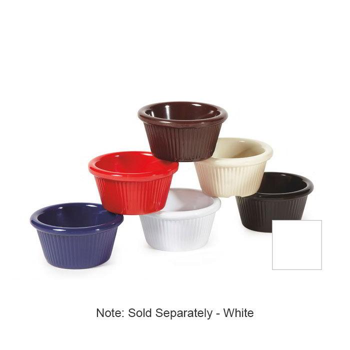 GET RM-387-W 2-oz Ramekin, Fluted, Melamine, White, Cone Shape