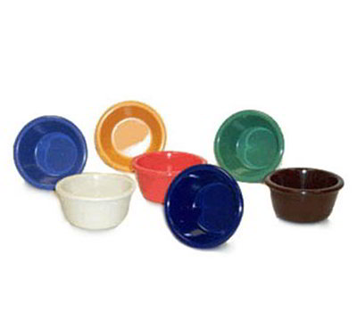 GET Enterprises RM-388-IV 3 oz Ramekin Plain Melamine Bone White Restaurant Supply